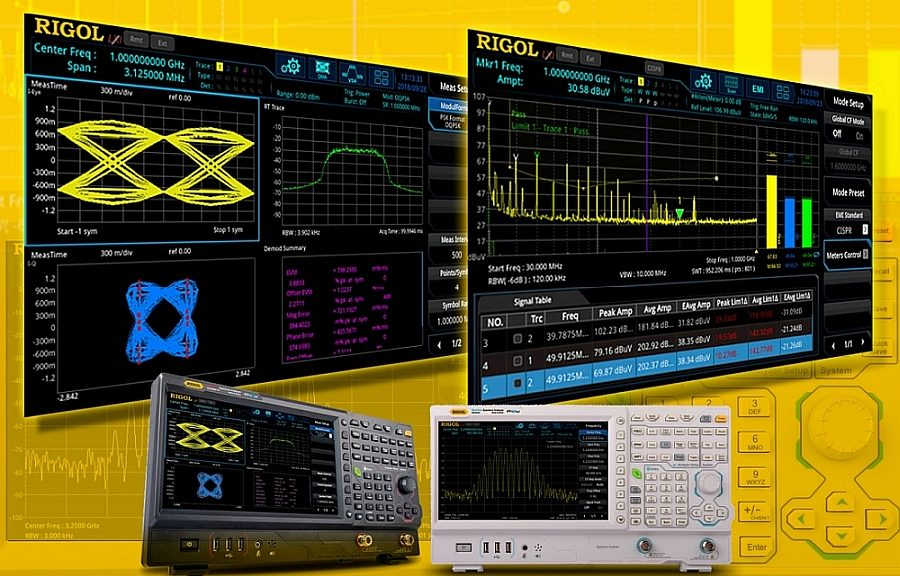 Applications logicielles pour les analyseurs de spectre RSA5000 de Rigol.