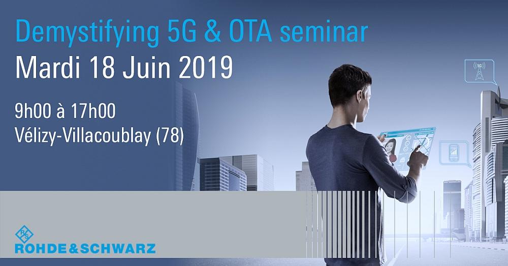 Séminaire 5G et OTA de Rohde & Schwarz.