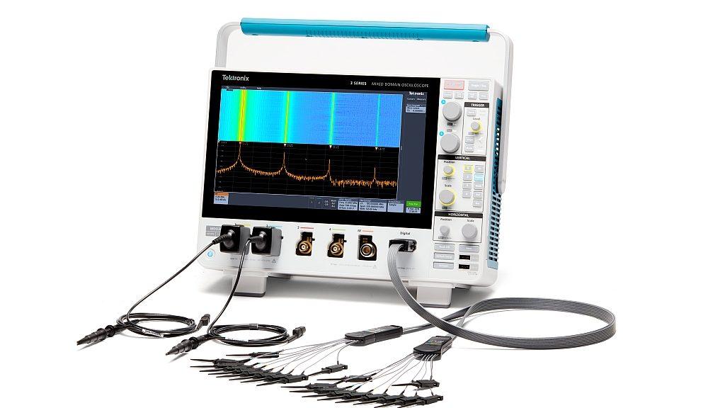 Oscilloscope multi-domaine MDO Série 3 de Tektronix.