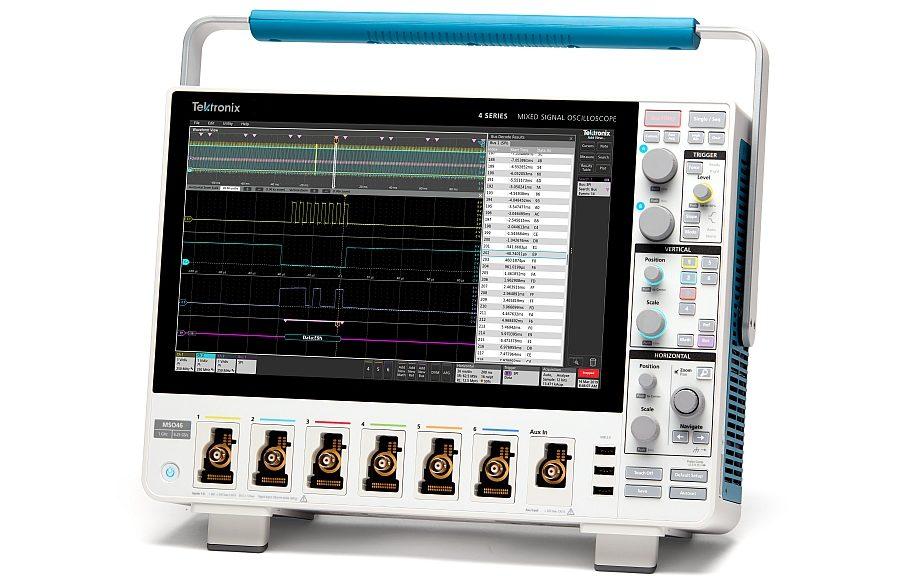 Oscilloscope MSO Série 4 pour signaux mixtes de Tektronix.