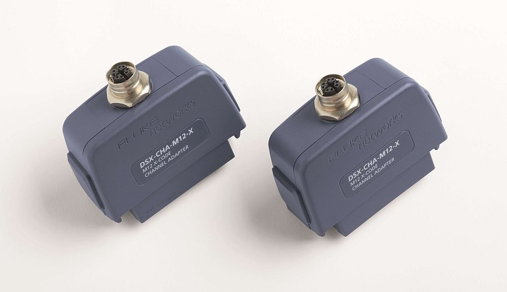 Adaptateur Ethernet industriel M12-X de Fluke Networks.