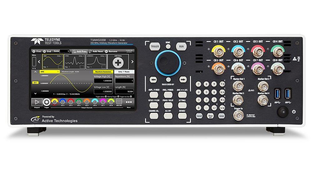 Générateur de signaux arbitraires T3AWG3358 de Teledyne Test Tools.