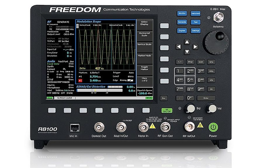 Analyseur de communication LMR R8100 de Freedom Communication Technologies (FCT).