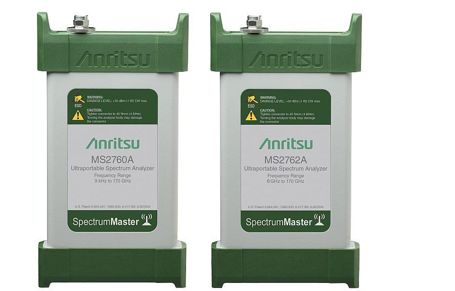 Analyseurs de spectre compacts Spectrum Master MS2760A et MS2762A d'Anritsu.