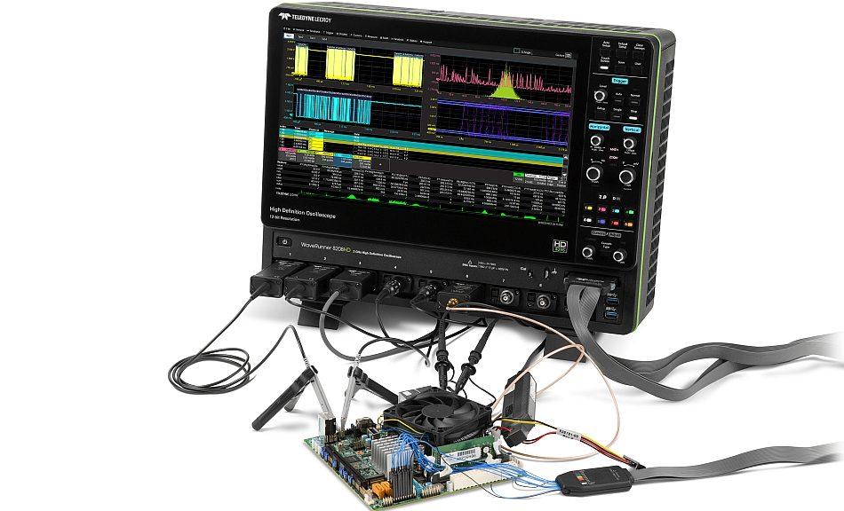 Oscilloscope WaveRunner 8000HD de Teledyne Lecroy.