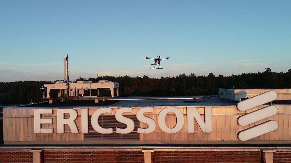 Drone pour test 5G développé par Ericsson et Rohde & Schwarz.