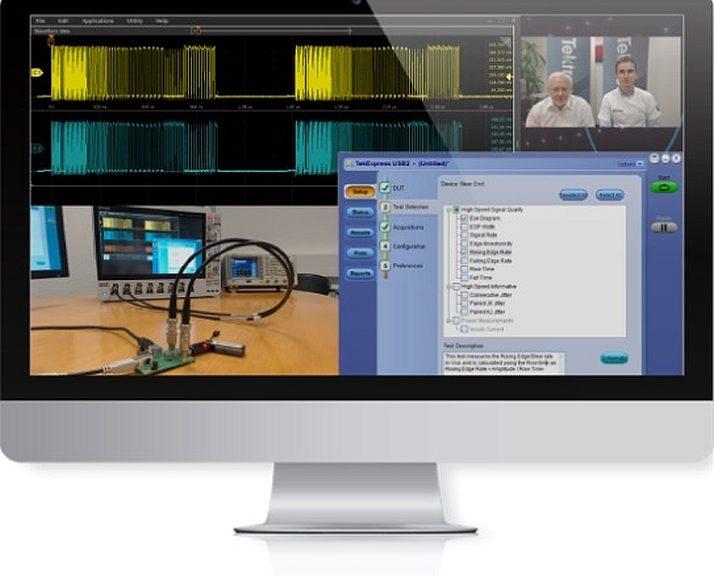 Démonstrations en ligne des oscilloscopes Tektronix.