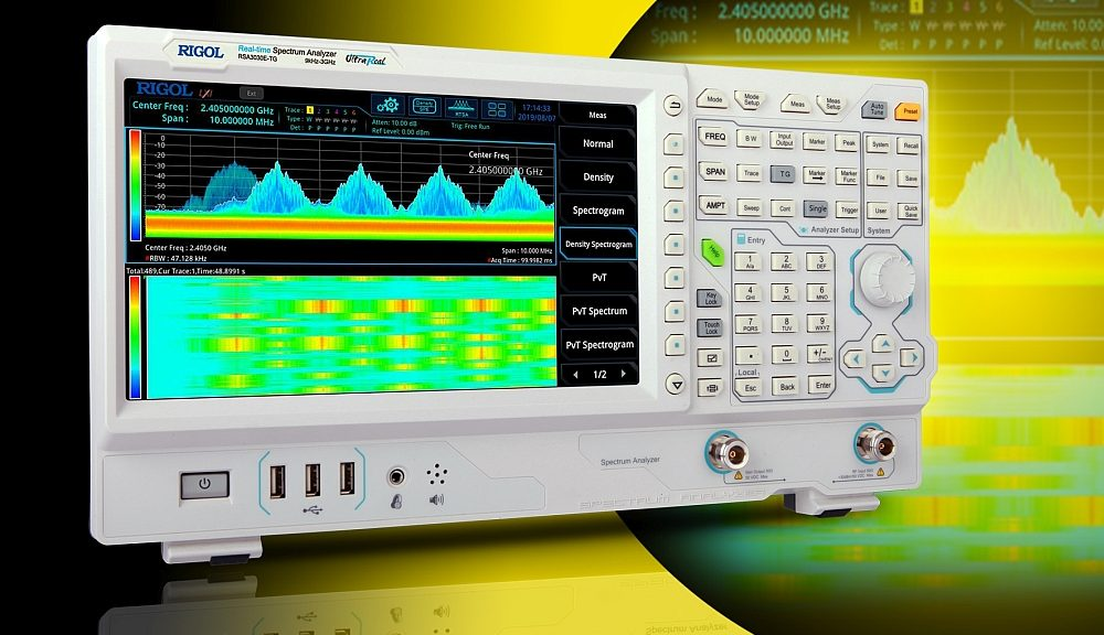 Analyseur de spectre temps réel RSA3000E de Rigol.