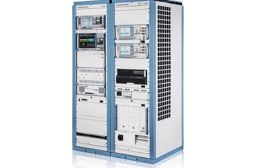 Système de test RF 5G TS8980 de Rohde & Schwarz.