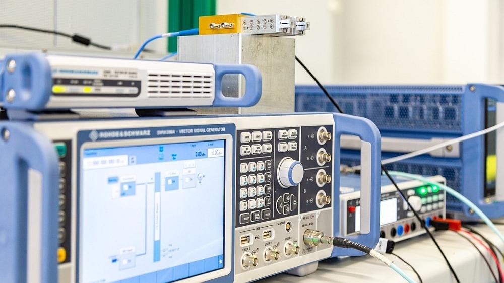 Système de transmission THz pour les télécommunications 6G de Rohde & Schwarz.