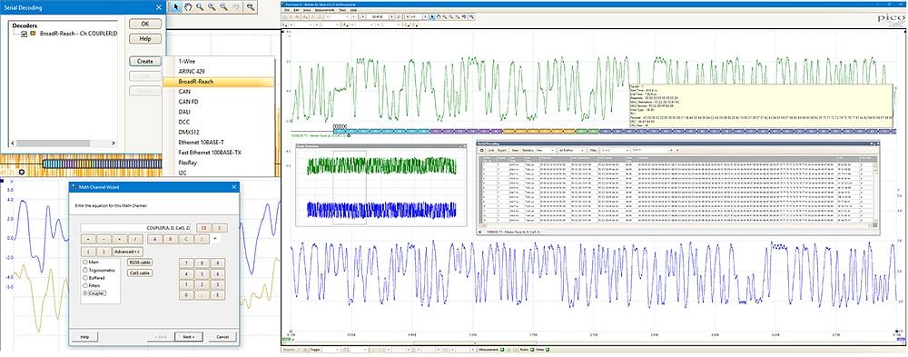 Décodeur/analyseur BroadR-Reach de Pico Technology.