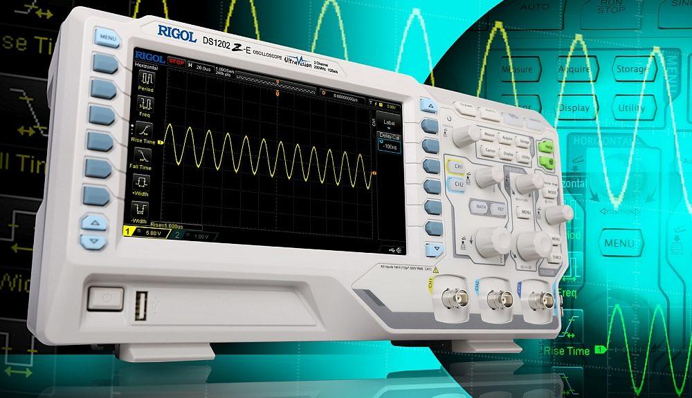 Oscilloscope DS1202Z-E de Rigol.