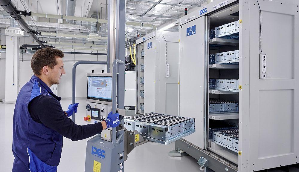 Centre de compétence de batterie de BMW.