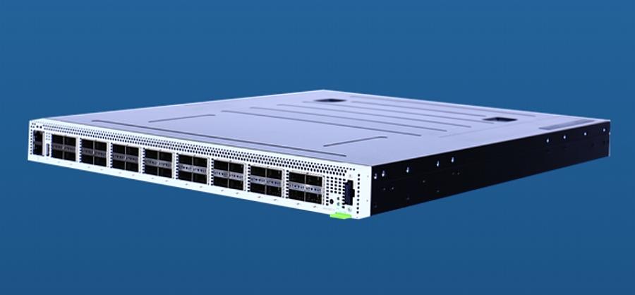 Système de test 100GE UHD100T32 de Keysight.