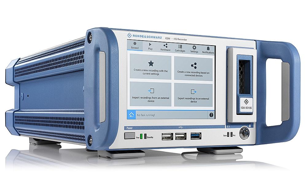 Enregistreur de données I/Q R&S IQW100 de Rohde & Schwarz.