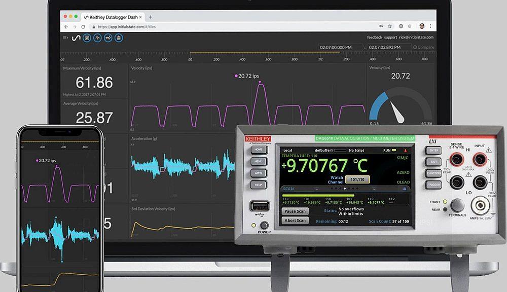 Logiciel de surveillance à distance intégrée par Tektronix à l'unité d'acquisition de mesures DAQ6510 de Keithley