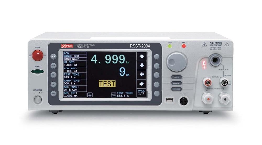 Analyseur de sécurité électrique RSST-2004 de RS PRO