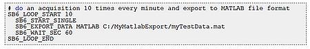 Script avec logiciel SBench 6
