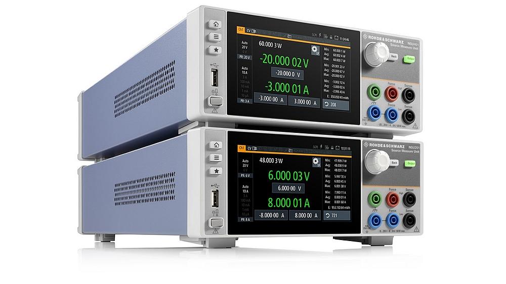 Sourcemètres R&S NGU201 et NGU401 de Rohde & Schwarz