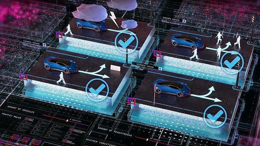 Solution de Dspace et BTC pour la validation automatique des systèmes d'aide à la conduite (ADAS) et des fonctions de conduite autonome (AD).