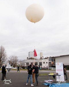 Test de liaison satellite sur ballon à l'INP ENSEIRB-MATMECA